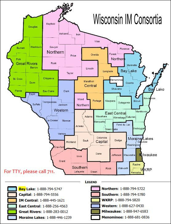 Wisconsin Consortia Map
